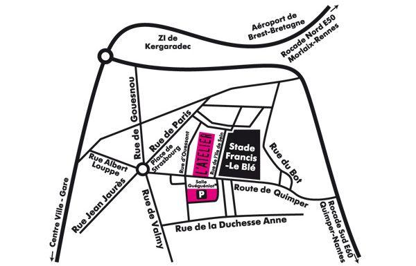 Plan de L'Atelier - Salle de réception et de séminaire à Brest - Finistère